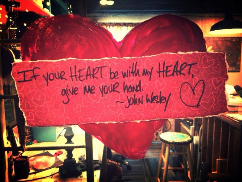 If your heart by with my heart...
