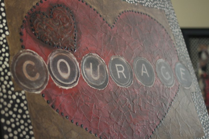 Courage ~ Video Shoot for The Torn Edge ~ January 2011